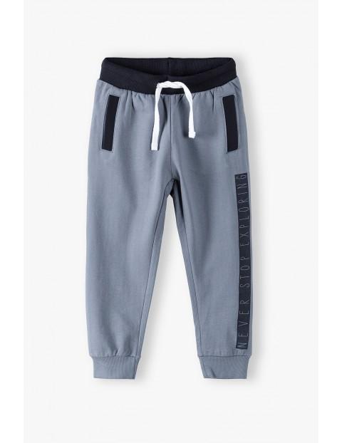 Spodnie dresowe chłopięce szare