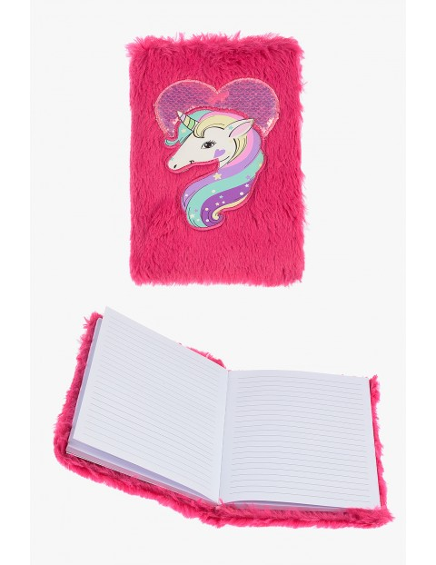 Notatnik dziewczęcy różowy z jednorożcem