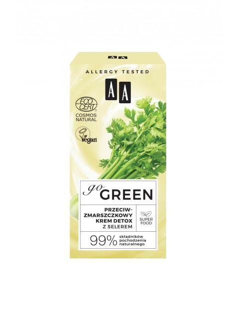 AA Go Green przeciwzmarszczkowy krem detox z selerem NATURAL 50 ml
