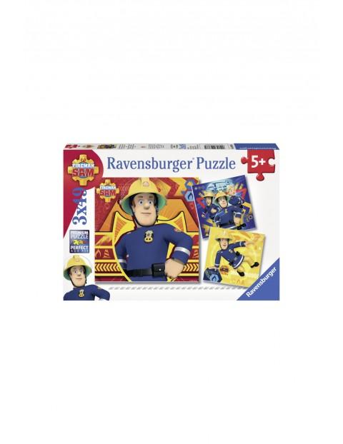 Puzzle Strażak Sam 3x49 elementów