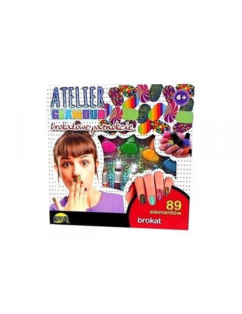 Atelier Glamour Brokatowe paznokcie