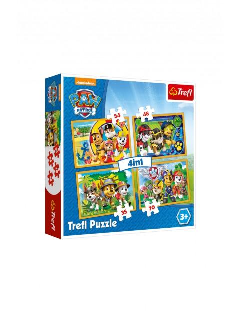 Puzzle Psi Patrol 4w1 - Zawsze na czas 3+
