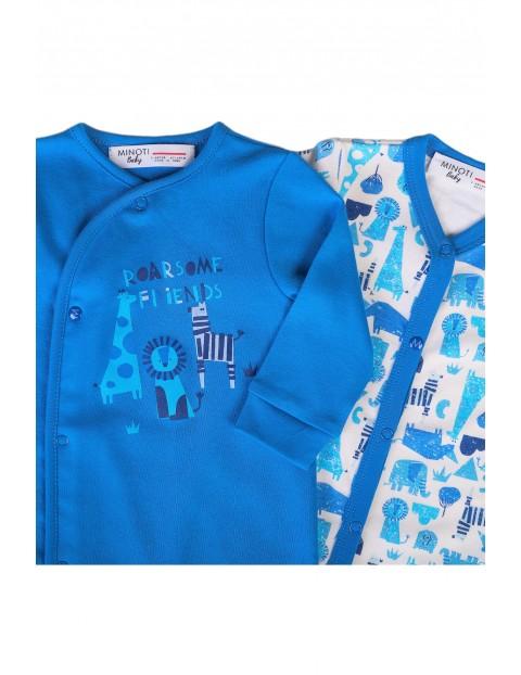 Bawełniany 2pak pajacyków niemowlęcych