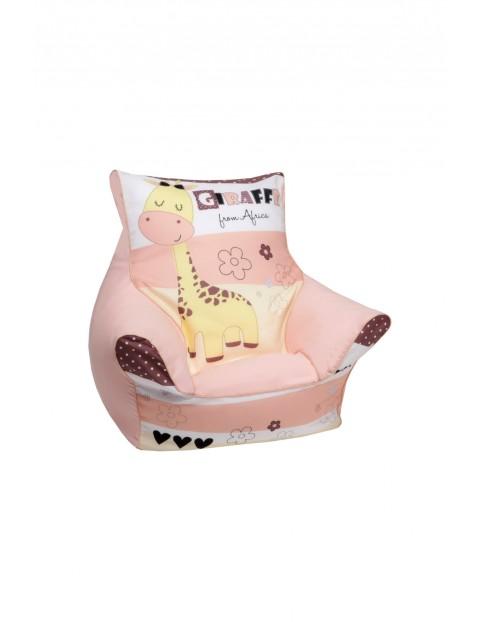 Fotelik dla dziecka z granulatem Żyrafa 1-4 lata