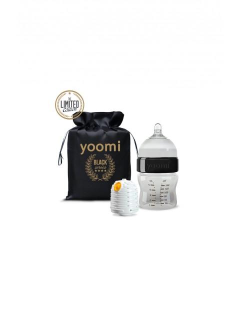 Zestaw butelka z podgrzewaczem Gold&Black Yoomi 140ml