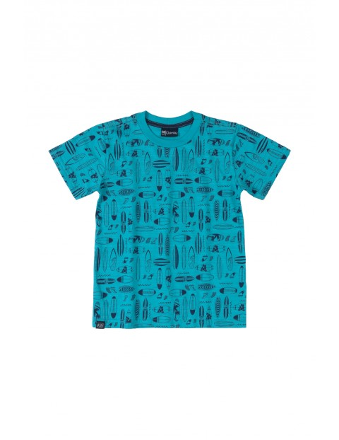 T-shirt chłopięcy  we wzorki - niebieski