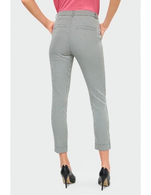 Eleganckie dopasowane spodnie damskie