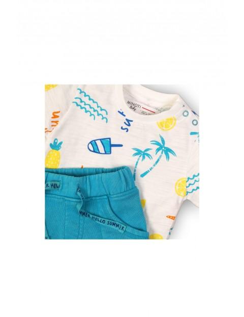 Komplet ubranek dla niemowlaka t-shirt i spodenki