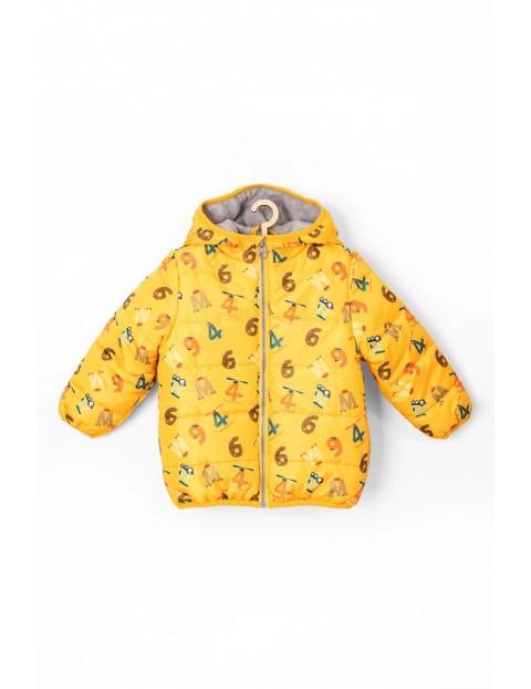 Pikowana kurtka dla niemowlaka- polarowa podszewska
