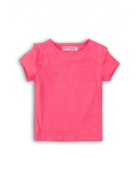 T-shirt niemowlęcy  z kieszonką--różowy