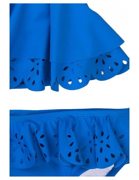 Strój kąpielowy dziewczęcy dwuczęściowy- niebieski