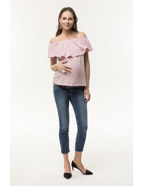 Top ciążowy Seniorita-pudrowy róż