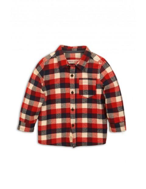 Koszula flanelowa- czerwona w kratę