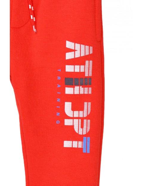 Spodnie dresowe chłopięce czerwone