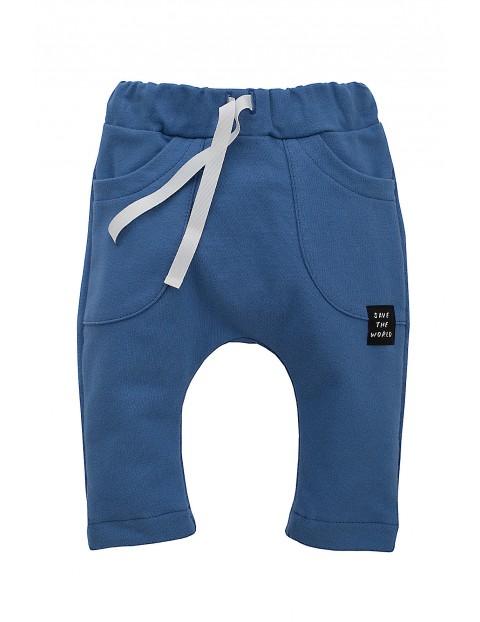 Spodnie niebieskie dla niemowlaka