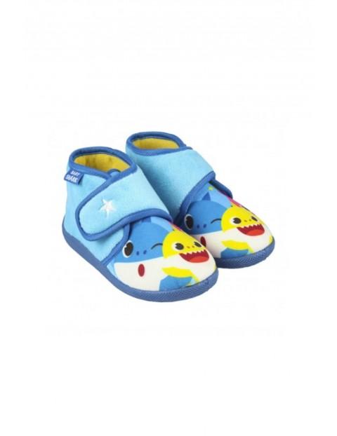 Kapcie chłopięce niebieskie - Baby Shark