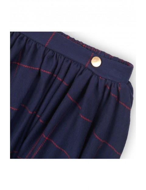Spódnica dziewczęca granatowa w bordową kratę