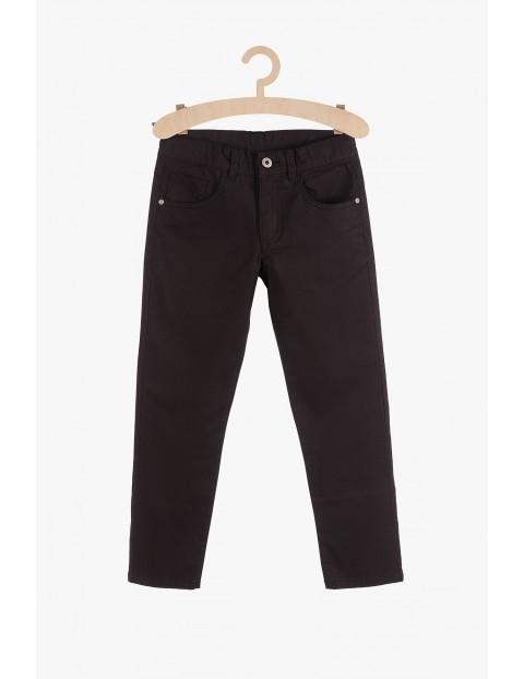 Klasyczne spodnie dla chłopca- czarne z regulacją w pasie