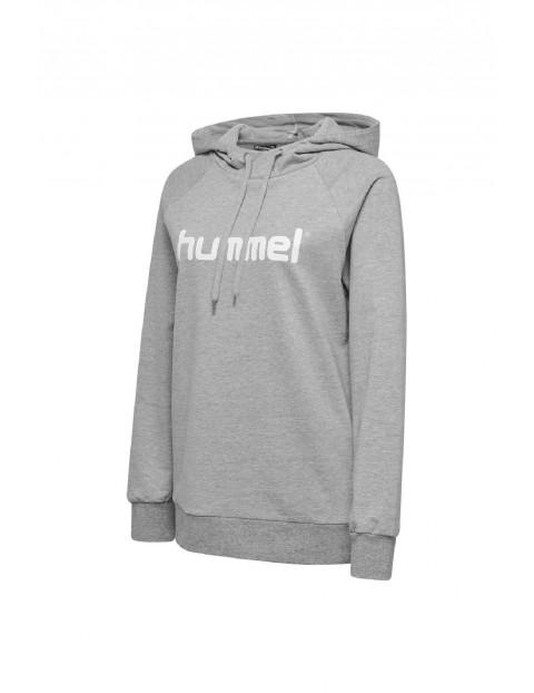 Bluza dresowa damska z kapturem Hummel - szara