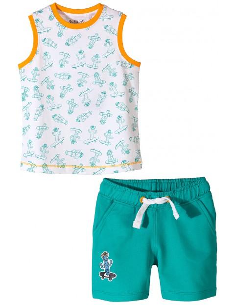 Komplet ubrań na lato dla chłopca- tshirt i spodenki