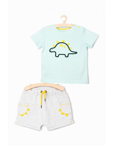 Komplet niemowlęcy Dino - tshirt + spodenki