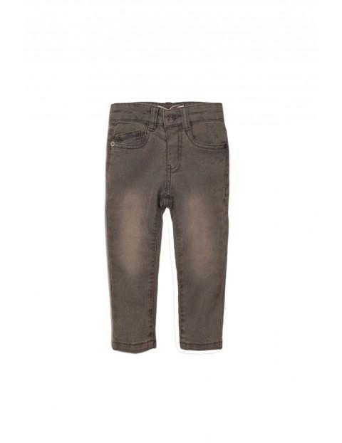Spodnie chłopięce - szare z przebarwieniami rozm 92/98