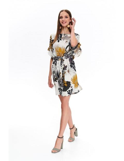 Sukienka damska w egzotyczny nadruk