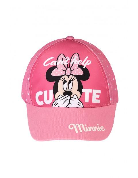 Różowa czapka z daszkiem dla dziewczynki Myszka Minnie