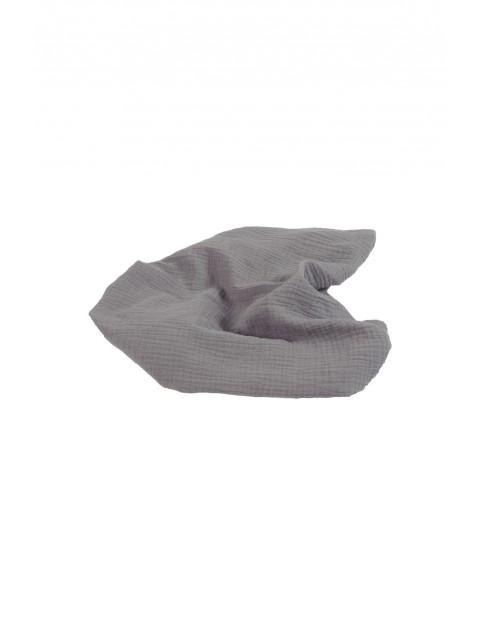 Otulacz muślinowy- szary100% bawełna, rozm. 80x120cm