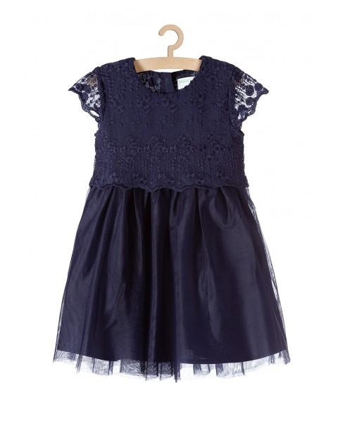 Sukienka granatowa dziewczęca
