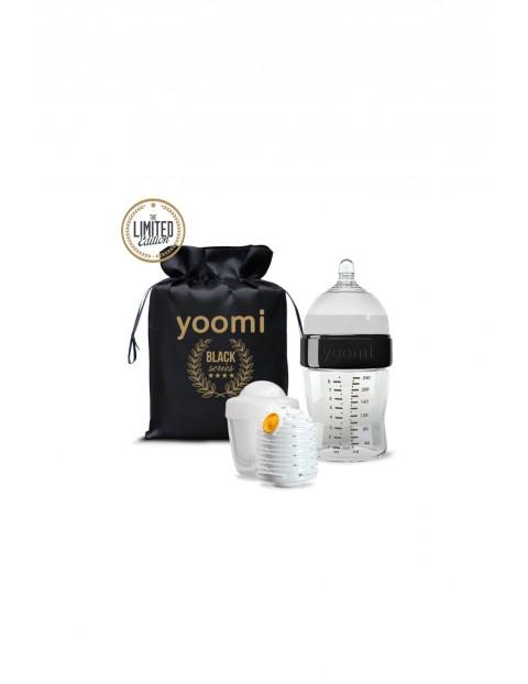Zestaw 240 ml z butelką, podgrzewaczem i kapsułą Yoomi GOLD&BLACK!