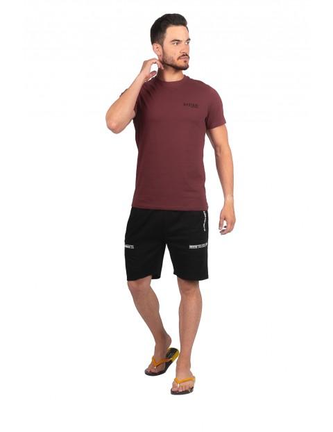 T-shirt bawełniany z minimalistycznym napisem System