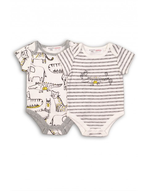 Body niemowlęce dwupak-zwierzaki