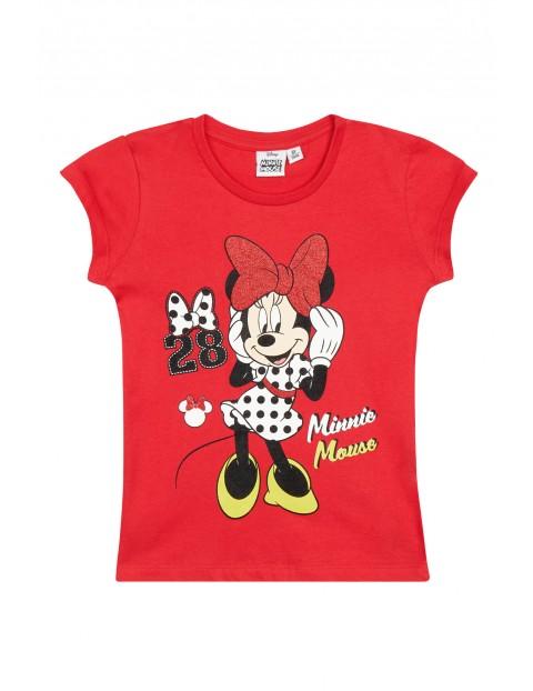 Koszulka dziewczęca Myszka Minnie- czerwona
