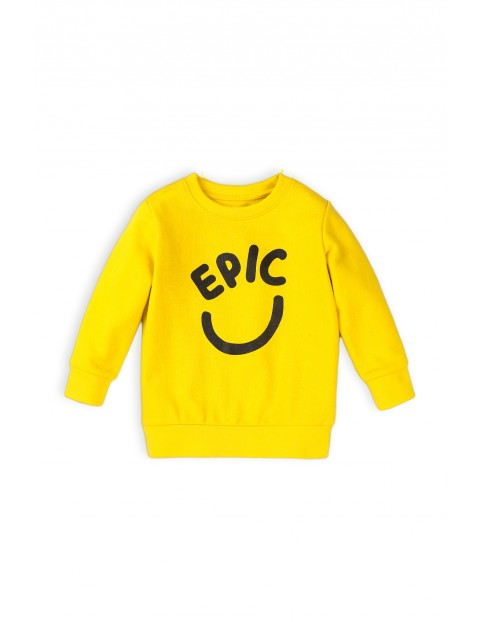 Bluza dresowa chłopięca w kolorze żółtym- EPIC