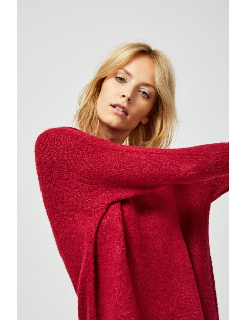 Sweter damski- bordowy