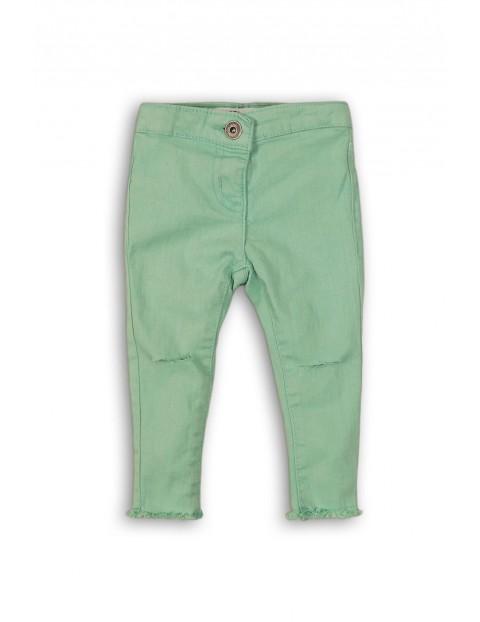 Jegginsy niemowlęce zielone