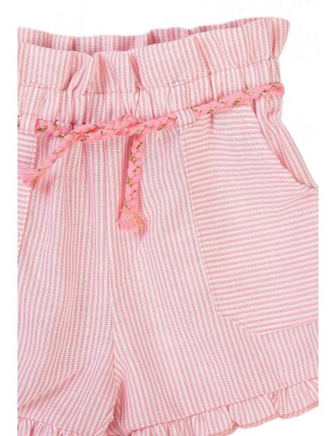 Różowe szorty dziewczęce w paski