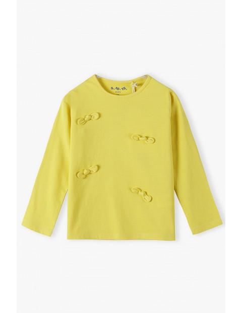 Bawełniana żółta bluzka z kokardkami