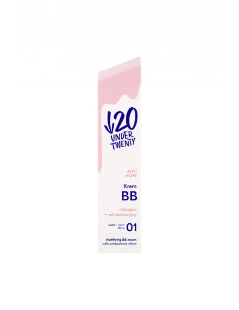 Under Twenty Anti Acne Krem BB matująco-antybakteryjny 01 jasny 60 ml