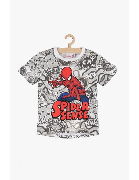 T-Shirt chłopięcy Spiderman- szary