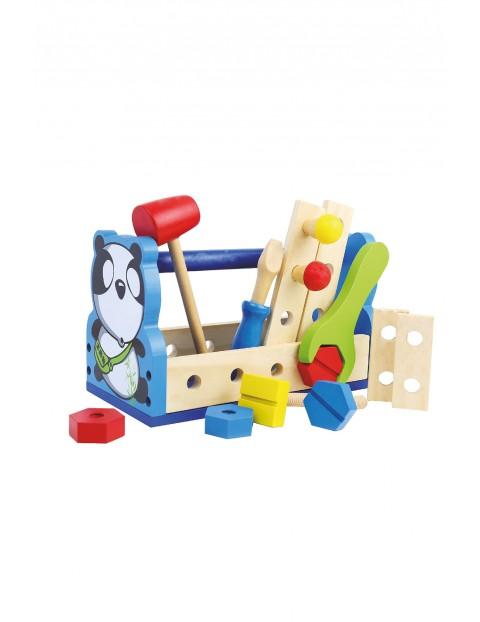 Drewniana zabawka edukacyjna - Smily Play Majster Panda 24 x 15 x 13 cm