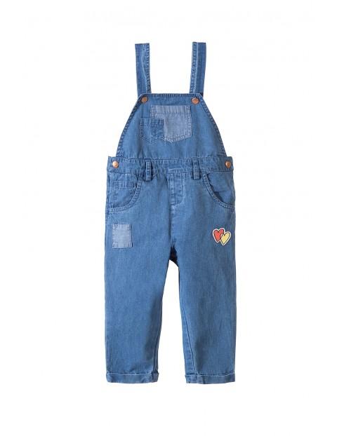 Spodnie ogrodniczki dla dziewczynki