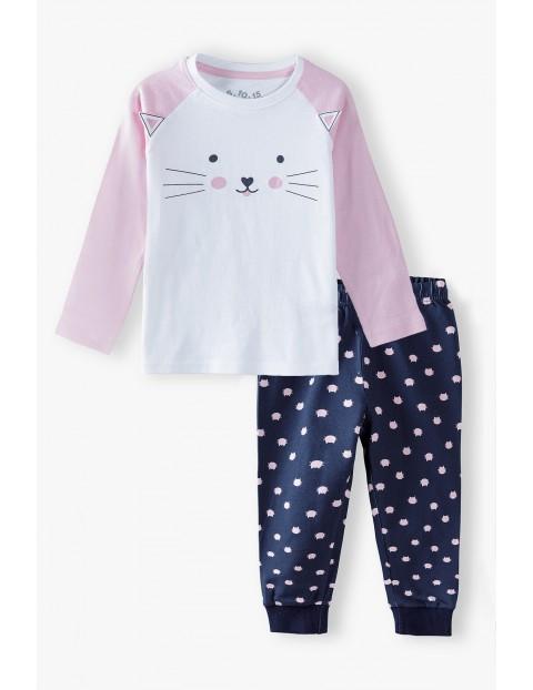 Piżama bawełniana w koty