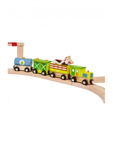 Farma pociąg drewniany Janod
