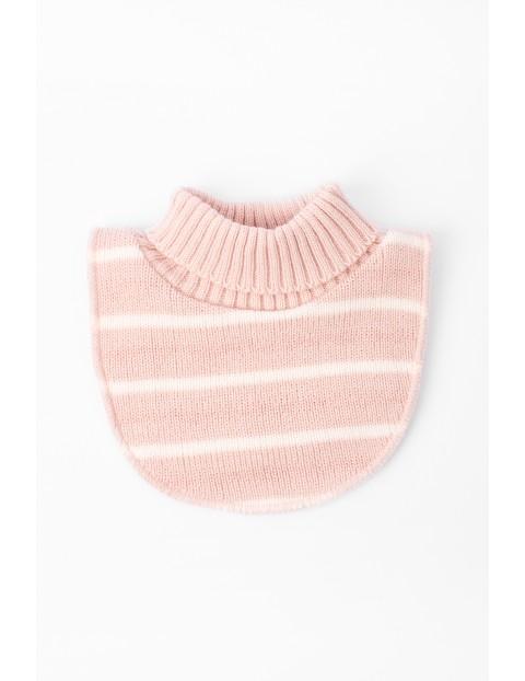 Półgolf dla dziewczynki-różowy w paski