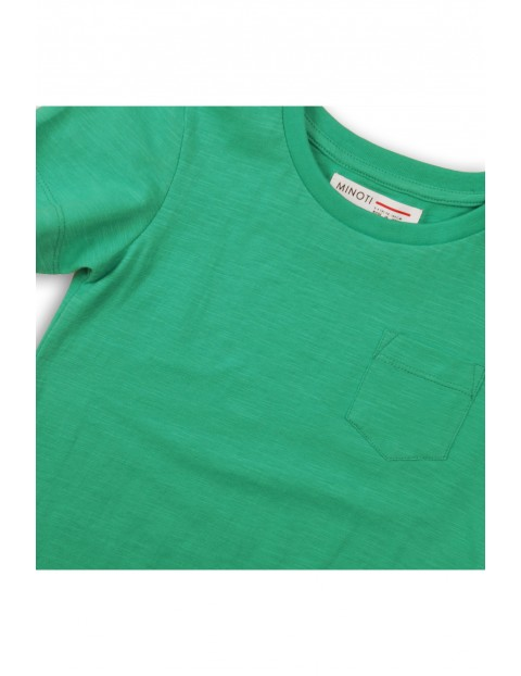 Zielony t-shirt dla niemowlaka