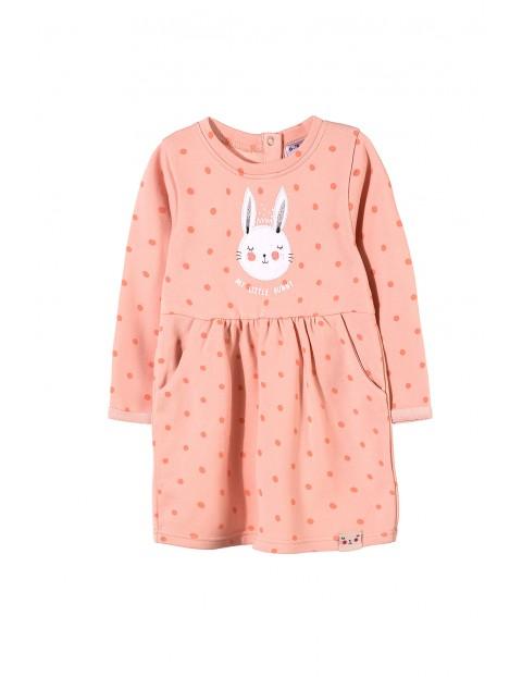 Bawełniana sukienka dziewczęca 3K3406