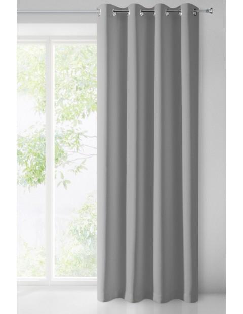Zasłona jednokolorowa - szara - 135x250cm