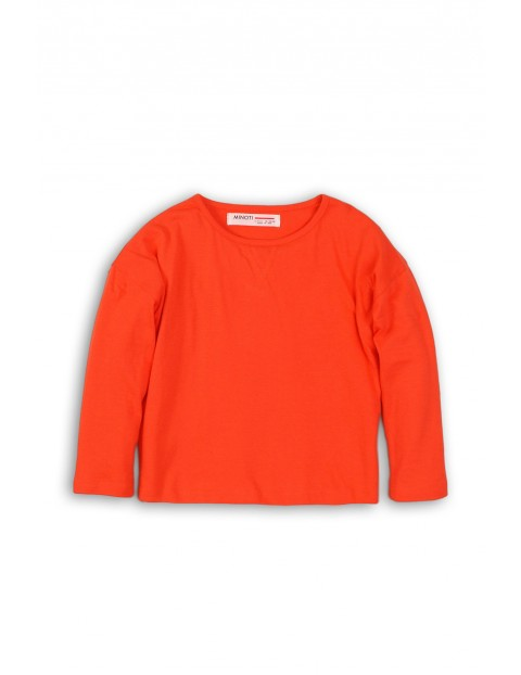 Bluzka niemowlęca pomarańczowa z długim rękawem